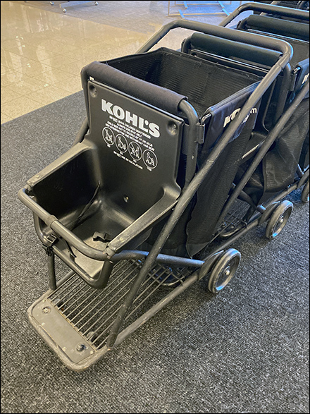 Kohl's Kid-Friendly Soft-Sided Shopping Cart