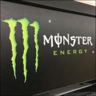 Mahogany Monster Energy-Drink Display Logo