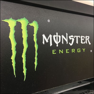 Mahogany Monster Energy-Drink Display Logo
