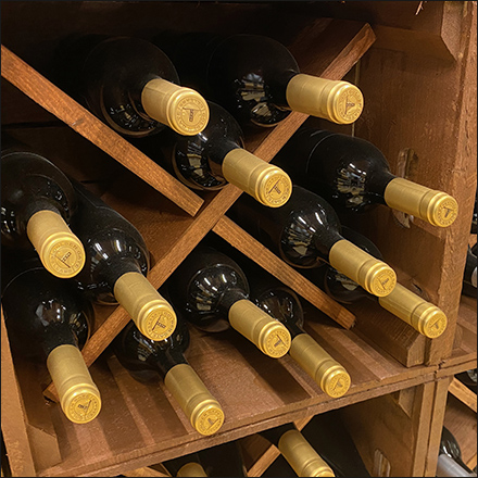 Well-Staged Moist-Cork Wine Display
