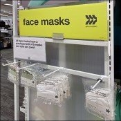 Children's Face Masks Display