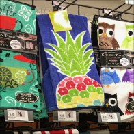 Kitchen-Towel Gridwall Merchandising Display