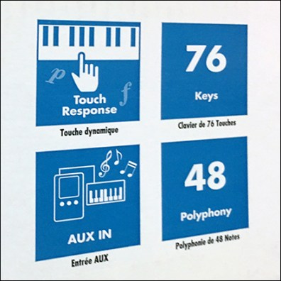 Yamaha Keyboard Pictorial Features List