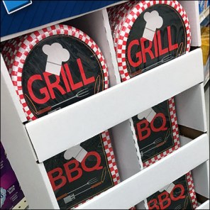 BBQ-Grill Party-Plates In-Aisle Display