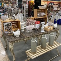 Country-Home Decor Merchandising Display