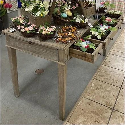Floral Vintage Desk-Drawer Display