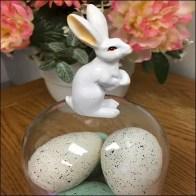 Bunny-Topped Easter Egg Bell Jar