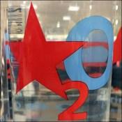 Macys Star-Branded Bottle Water Display