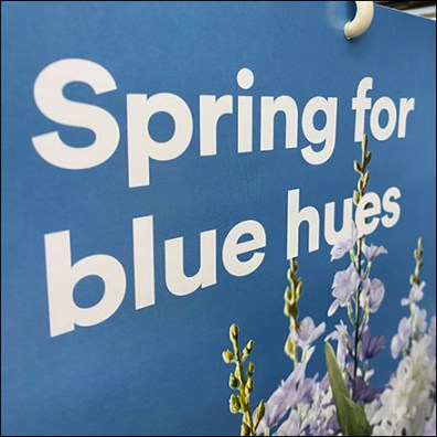 Spring-For-Blue Gondola Upright SignSpring-For-Blue Gondola Upright Sign