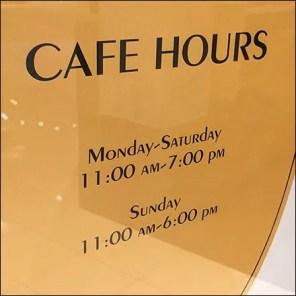 Freestanding Marketplace Restaurant Hours Sign