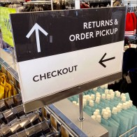 Nordstrom-Rack Returns-&-Pickup Median Directional Sign