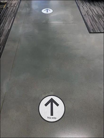 Nordstrom-Rack Traffic-Flow Floor Graphic Directionals