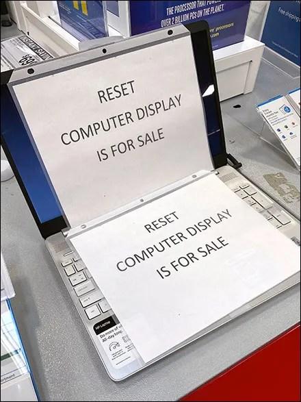 Apple Reset Computer Display Conundrum