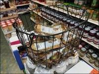 Dried-Mushroom Open-Wire Basket Display