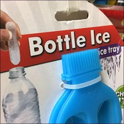 Bottle Ice-Cube-Tray Strip Merchandiser