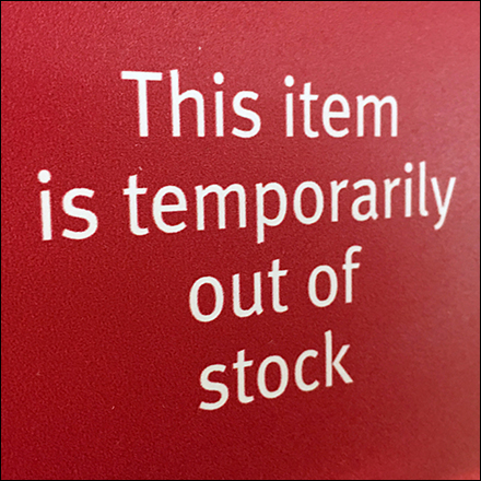 Wegman's Wine Out-Of-Stock Upright Sign