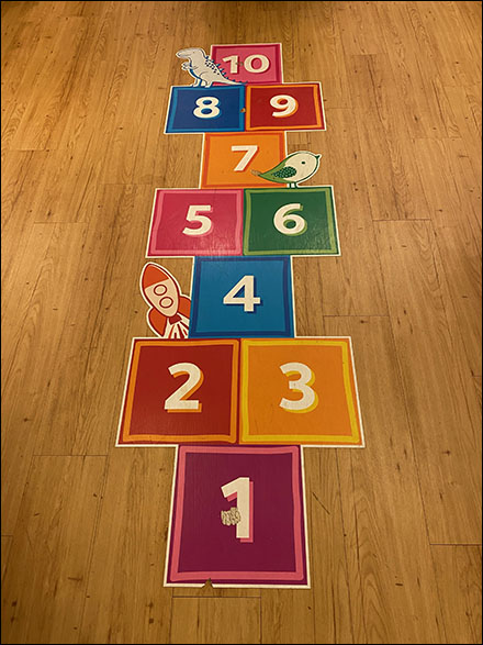 In-Store Hopscotch Floor Graphic Upgrade