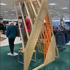 Wood-Frame Visual Merchandising Staging