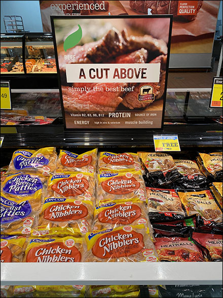 A-Cut-Above Best Beef Sign