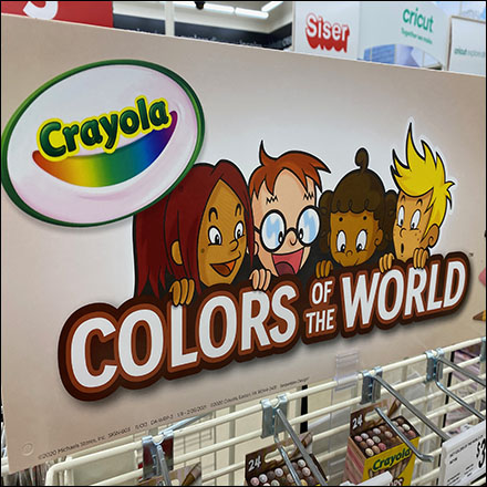 Crayola Color-Of-The-World Crayon DisplayCrayola Color-Of-The-World Crayon DisplayCrayola Color-Of-The-World Crayon Display