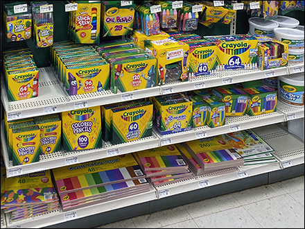 Crayola Bonus-Pack Gondola Shelf Merchandising