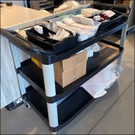 Nordstrom-Rack Plastic Price-Labeling Cart