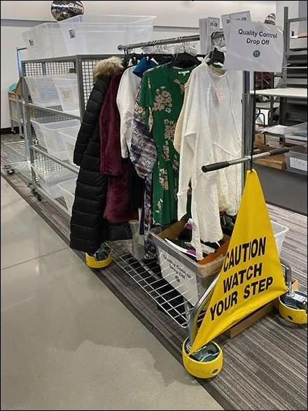 Nordstrom-Rack Quality-Control Apparel Hangrail Cart