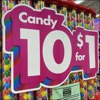 10-for-$1 Candy Bulk-Bin Tower