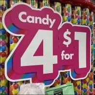 4-for-$1 Candy Bulk-Bin Display4-for-$1 Candy Bulk-Bin Display4-for-$1 Candy Bulk-Bin Display