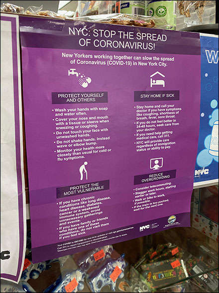 NYC Covid Prevention Poster in Retail