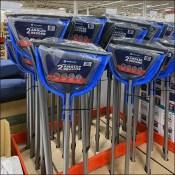 Angled-Broom Angled Pallet Display