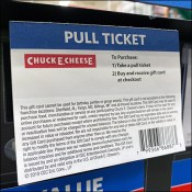 Chuck-E-Cheese Padded Pick Card