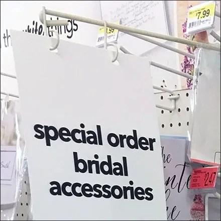 Bridal Accessories Gondola Sign-Arm