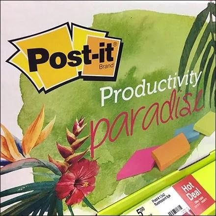 Post-It Productivity Paradise Alliteration
