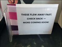 Ulta These-Flew-Away-Fast Out-of-Stock Notice