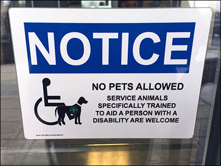 Trained Service Animals Only Welcome Sign