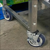 ZipFizz Mobile Dolly-Wheel Display