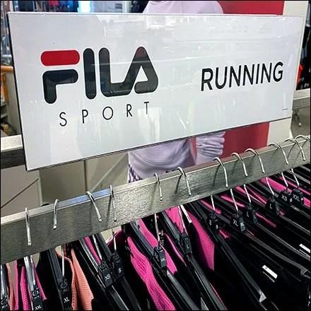 Fila-Sport Running Apparel Racks