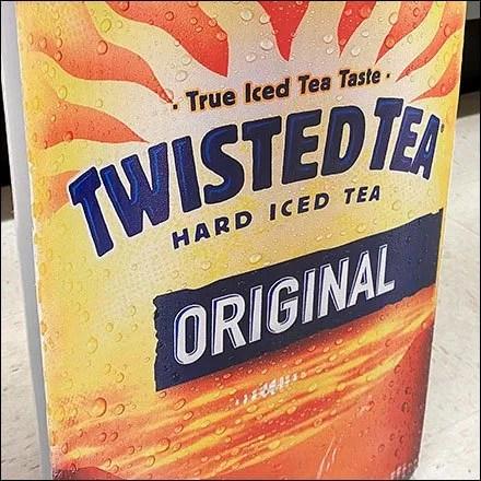 Original Twisted-Tea Bollard Advertising
