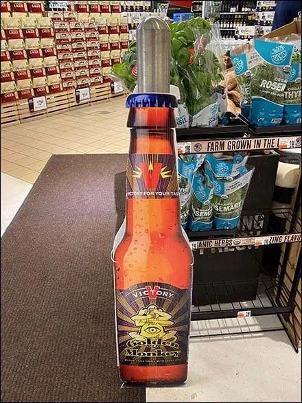 Retail Bollard Advertising - Victory Golden-Monkey Bollard Advertising
