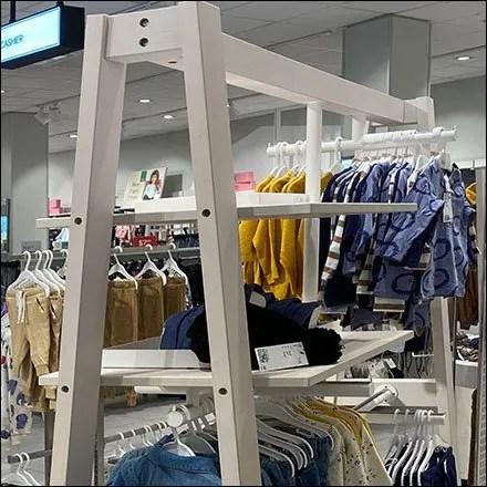 H&M Children's Apparel Trapezoid Rack