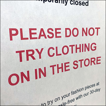 H&M Storewide No-Try-On Directive