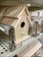 Birdhouse Glass Shelf Divider Outfitting