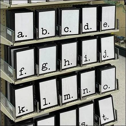 Block-Letter Alphabet Endcap Display
