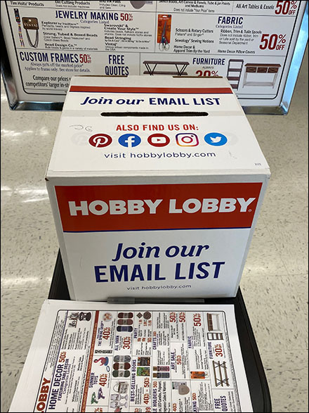 Store-Entry Join-Our-Email-List Ballot Box