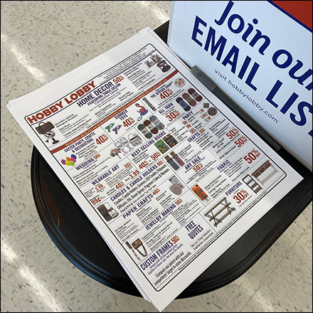 Hobby-Lobby Takeaway Specials Flyers