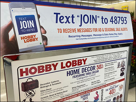 Hobby-Lobby Text-To-Join Entry Invitation