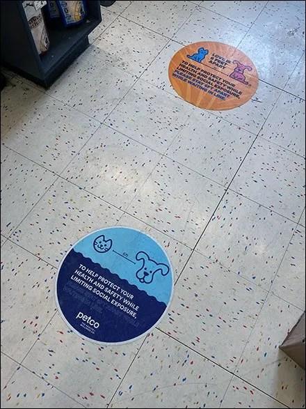 Petco Love-Is-6-Feet-Apart Floor Graphic