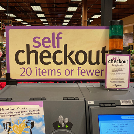 Subtle Self-Checkout Call-To-Action