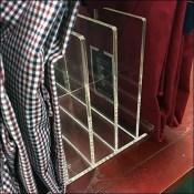 Upright Acrylic Dress-Shirt Holder